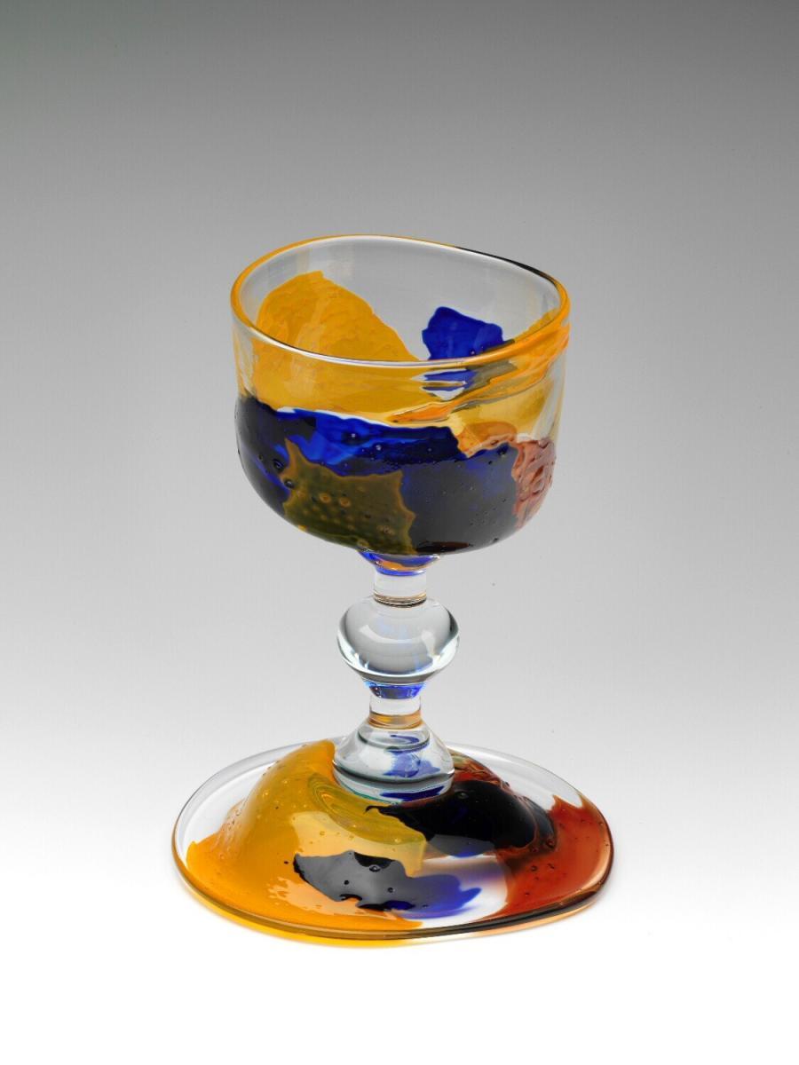dronken wijnglas