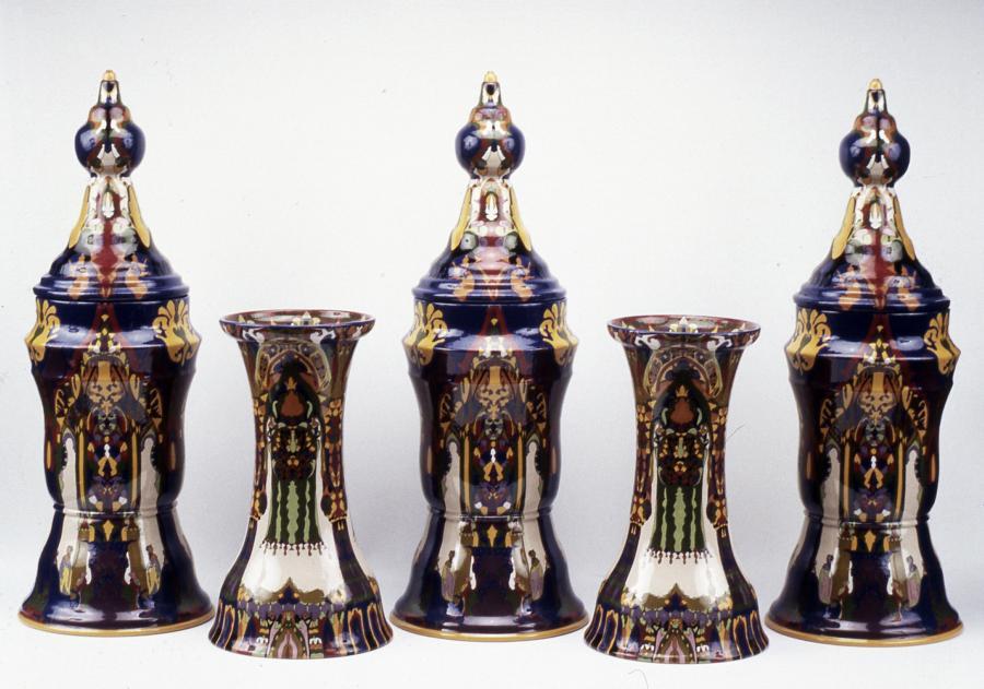 set of ornamental jars