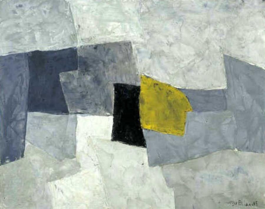 Composition en noire et jaune