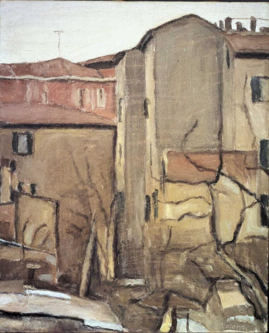 Cortile di via Fondazza (Binnenhof aan de via Fondazza)