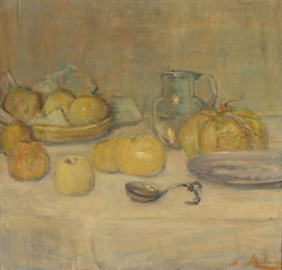 Still Life with Apples and a Melon