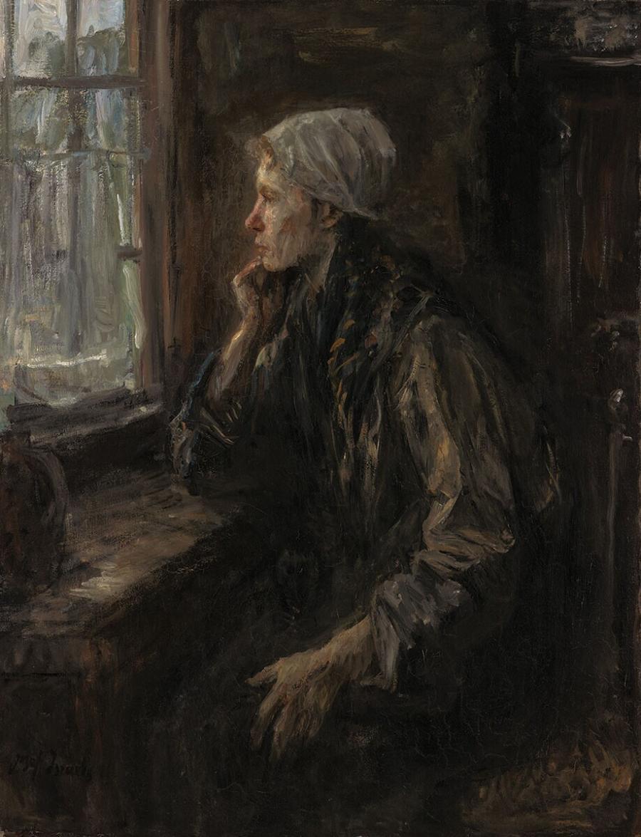 Vrouw aan het venster