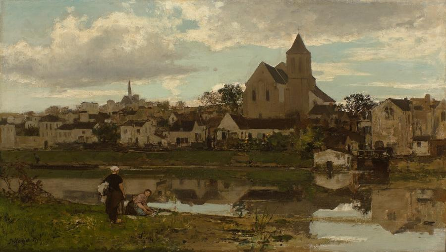 View at Montigny-sur-Loing