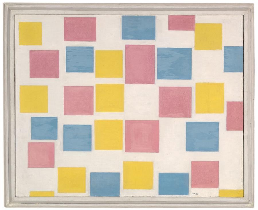 Compositie met kleurvlakjes