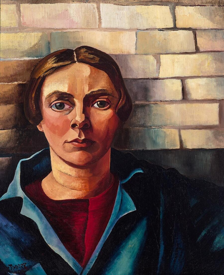Self-portrait against a Wall