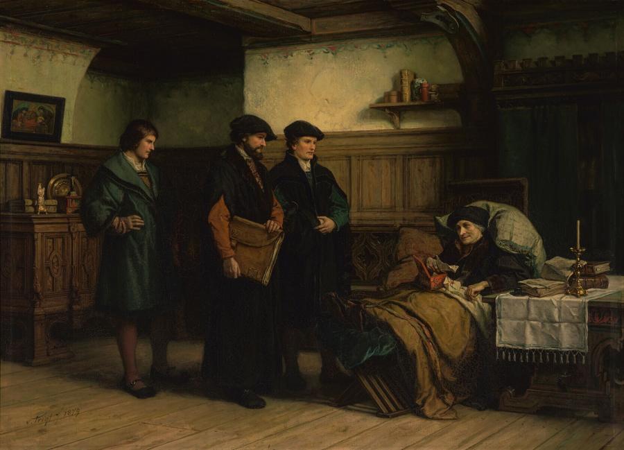 De laatste dagen van Erasmus te Bazel met Amerbach, Frobenius en Episcopius