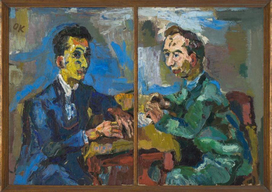 Dubbelportret van Hans Mardersteig en Carl Georg Heise