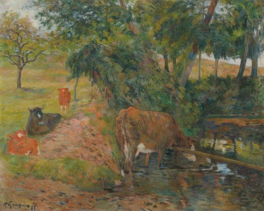 Vaches au repos (Koeien aan het wed)