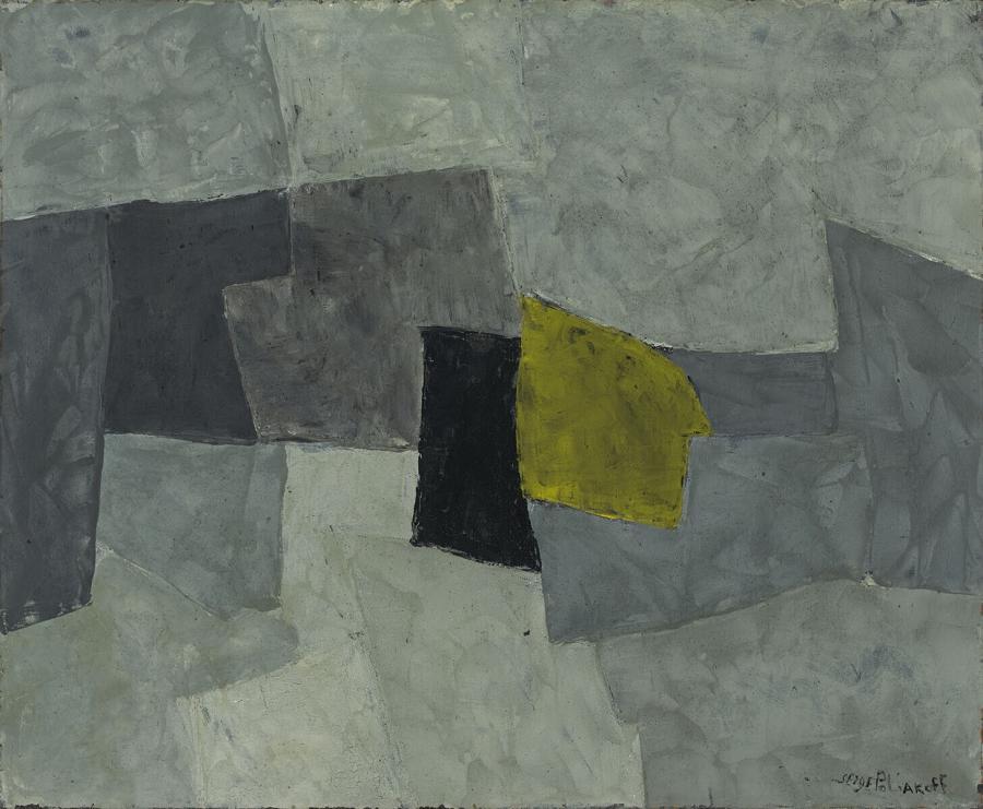 Composition en noire et jaune (Compositie in zwart en geel)