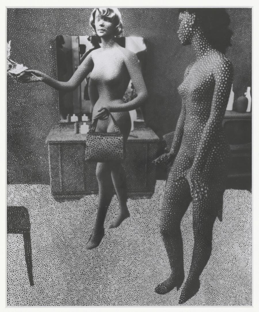 Foto van collage (circa 1966) van Yayoi Kusama