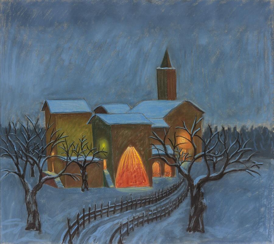 Villagio d'inverno (Dorp in de winter)