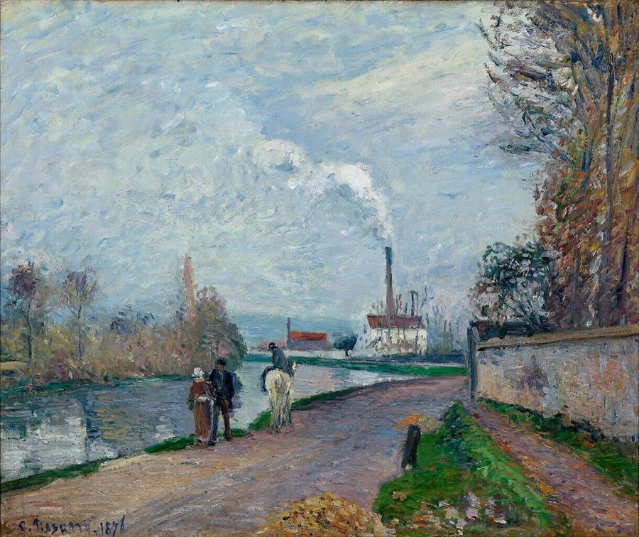 L'Oise à Pontoise, temps gris (De Oise bij Pontoise bij grijs weer)