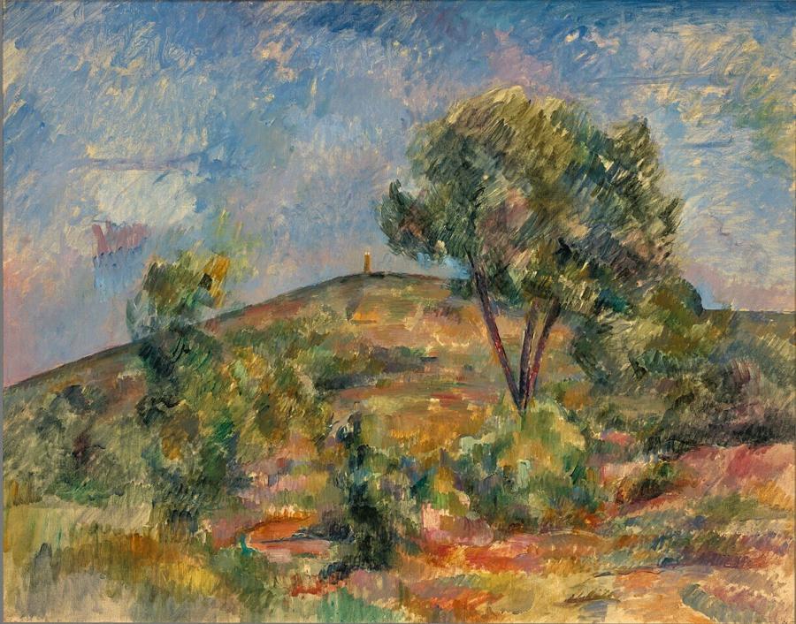 Landscape near Aix with the Tour de César