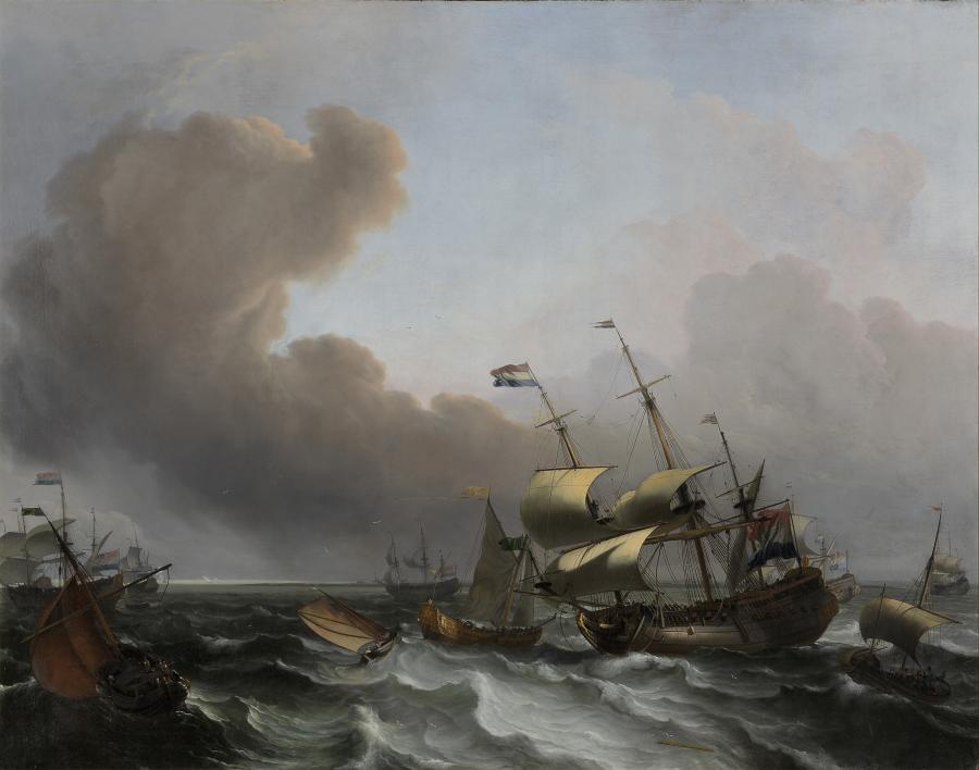 Storm op de Hollandse kust