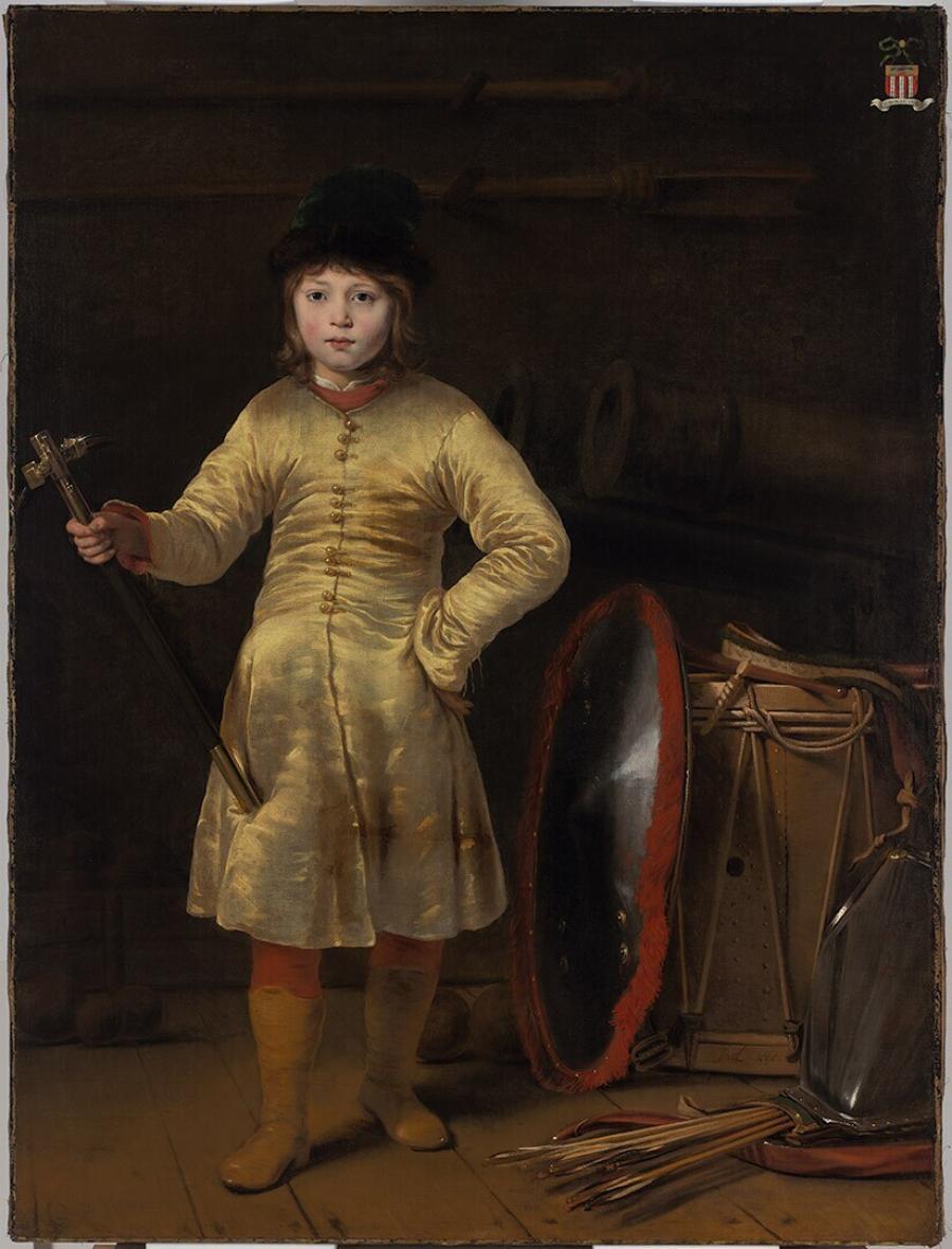 Otto van der Waeyen in Pools kostuum