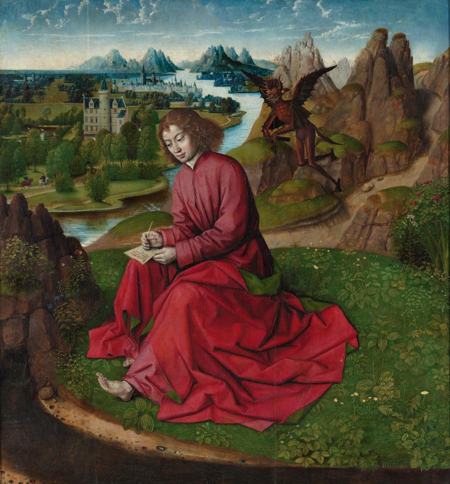 Johannes, het Evangelie schrijvend