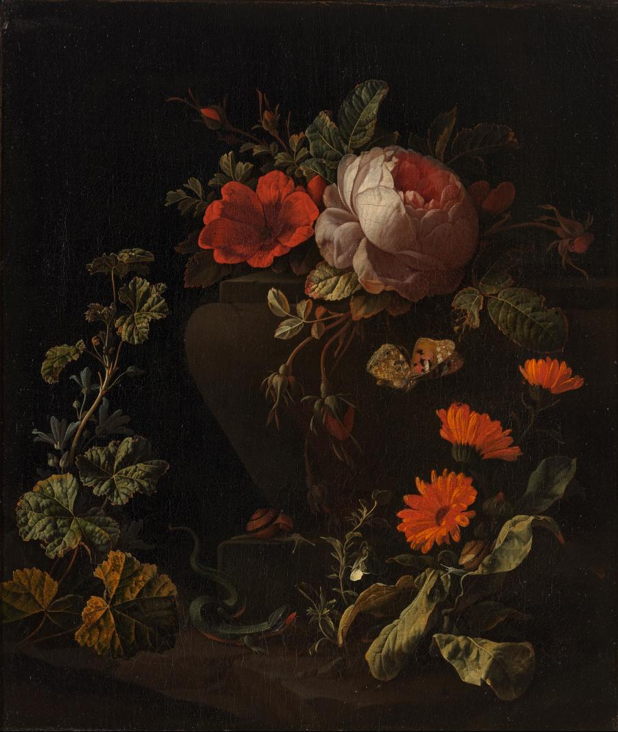 Flowers on a Balustrade