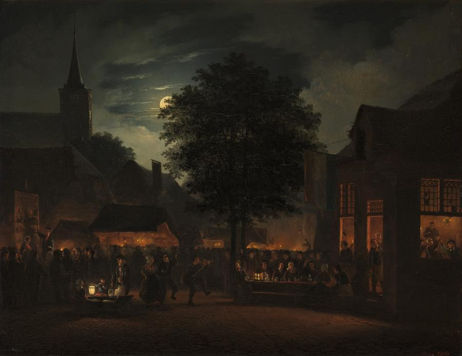 Village fair by night