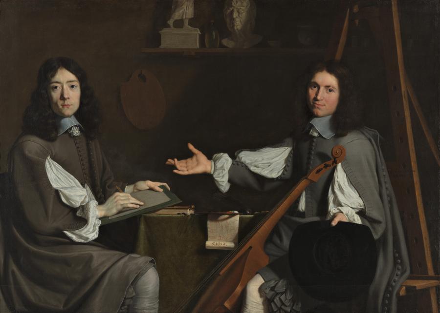 Dubbelportret van de beide kunstenaars