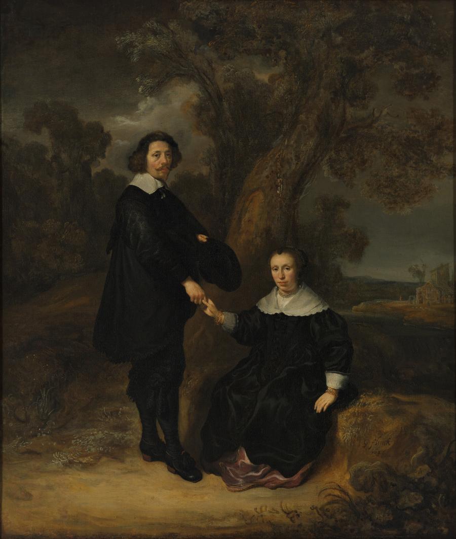 Portret van Dirck Graswinckel en Geertruyt van Loon