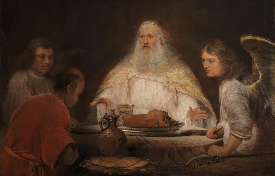 Abraham en de engelen