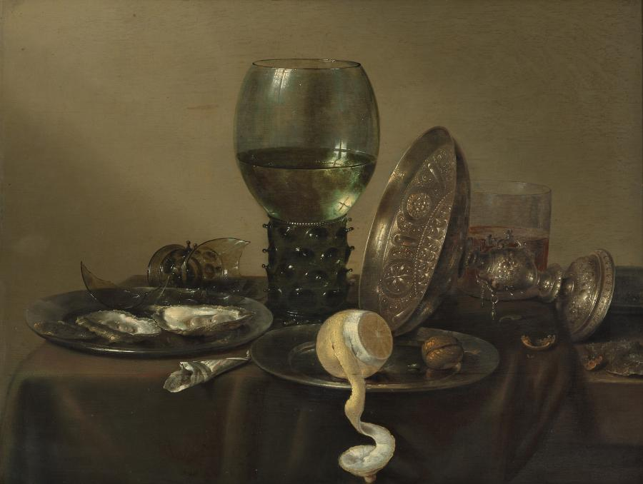 Still Life with Oysters, a Rummer, a Lemon and a Silver Bowl