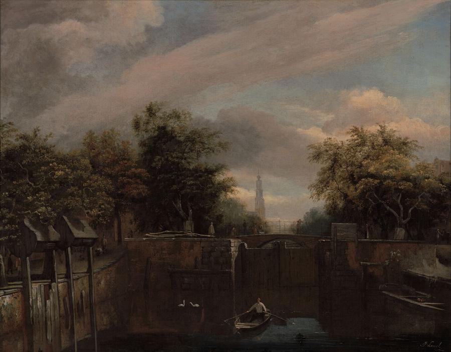 De Eenhoornsluis aan de Prinsengracht te Amsterdam