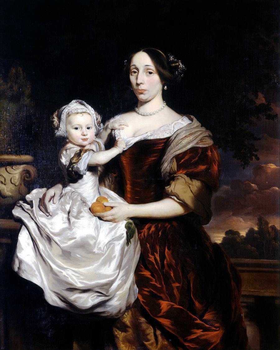 Portret van Maria Colve en haar dochter Anna Maria Nieupoort