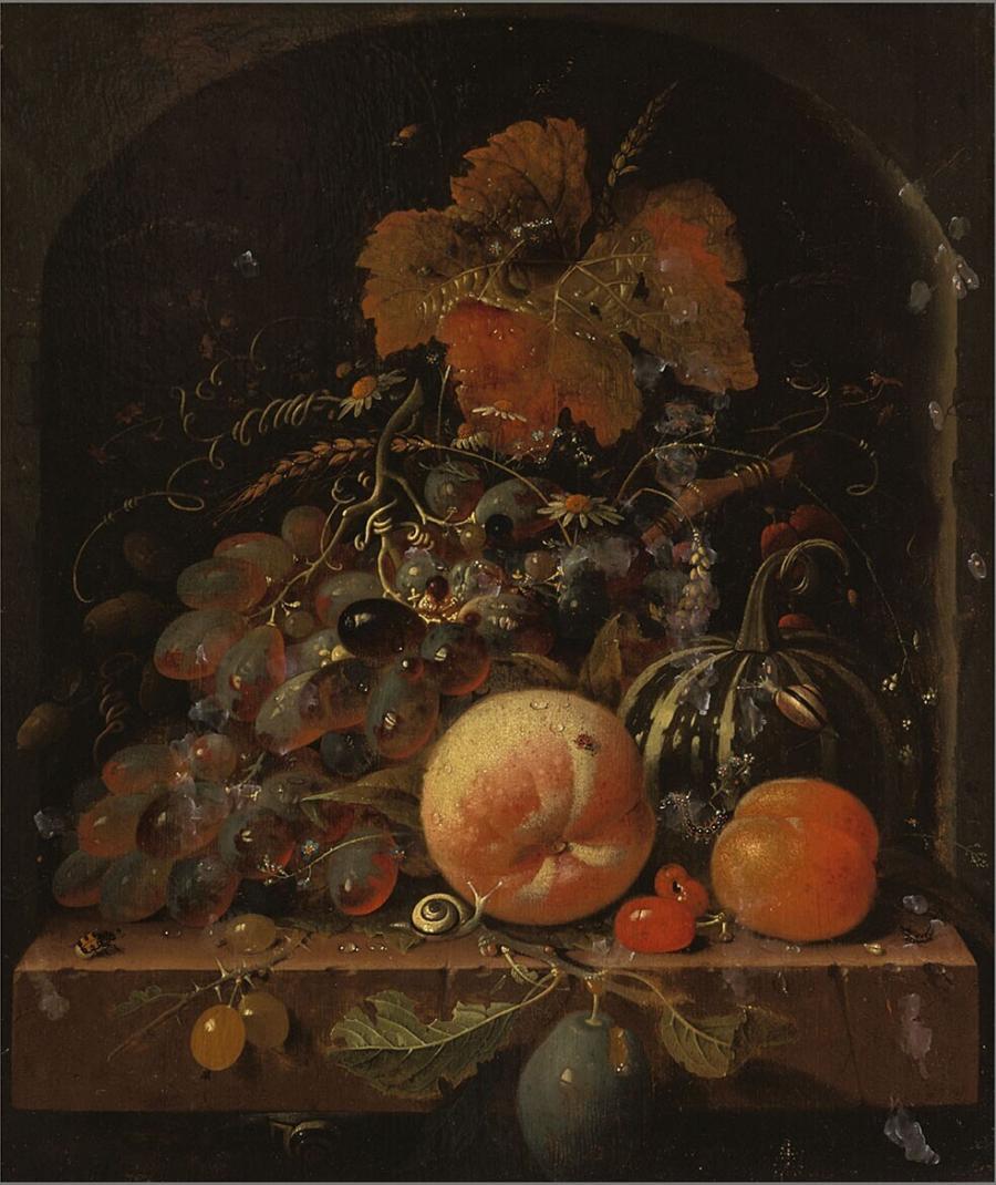 Vruchten in een nis