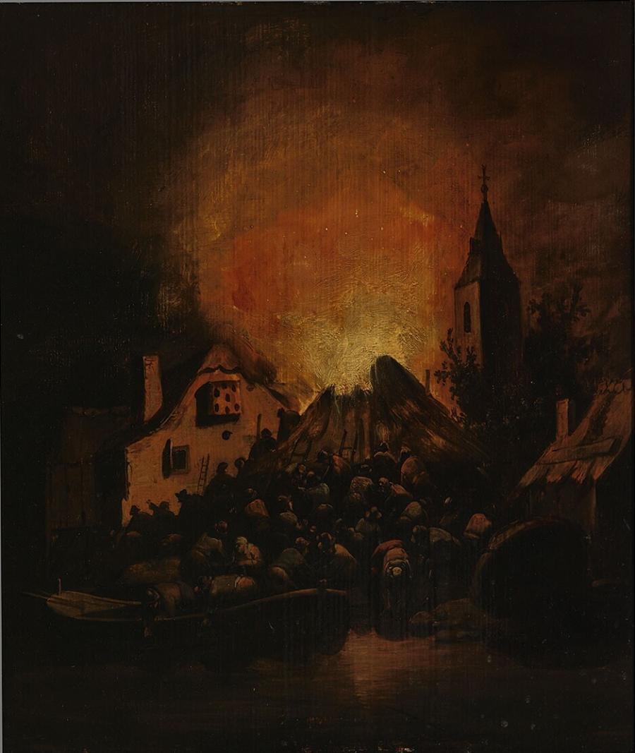 Nachtelijke brand
