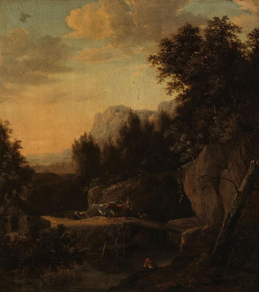 Mountainous Landscape by Night