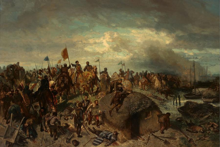 Floris V in de slag bij Vroonen (1276)