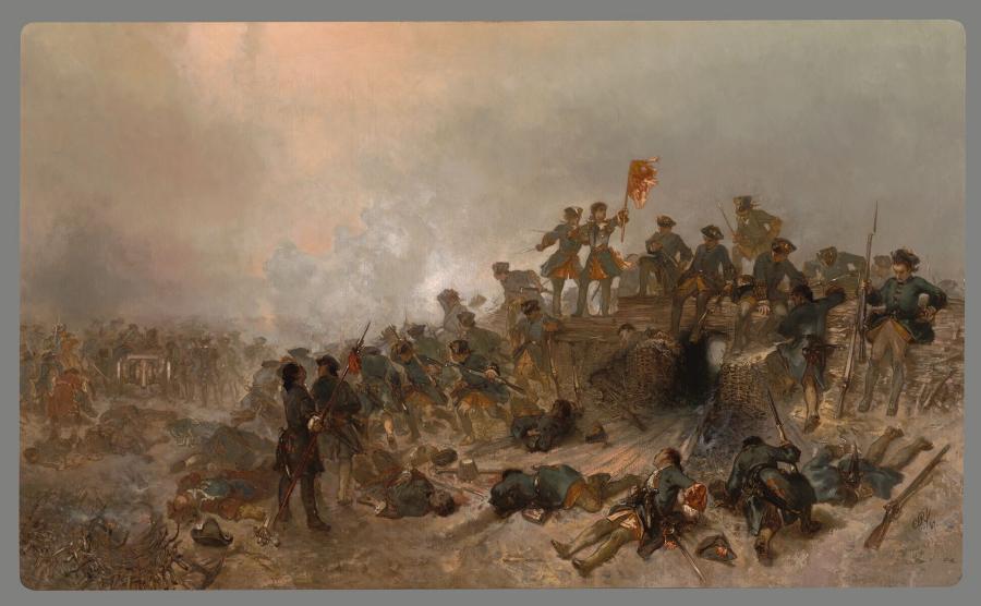 Jan Willem Friso in de slag bij Malplaquet (1709)