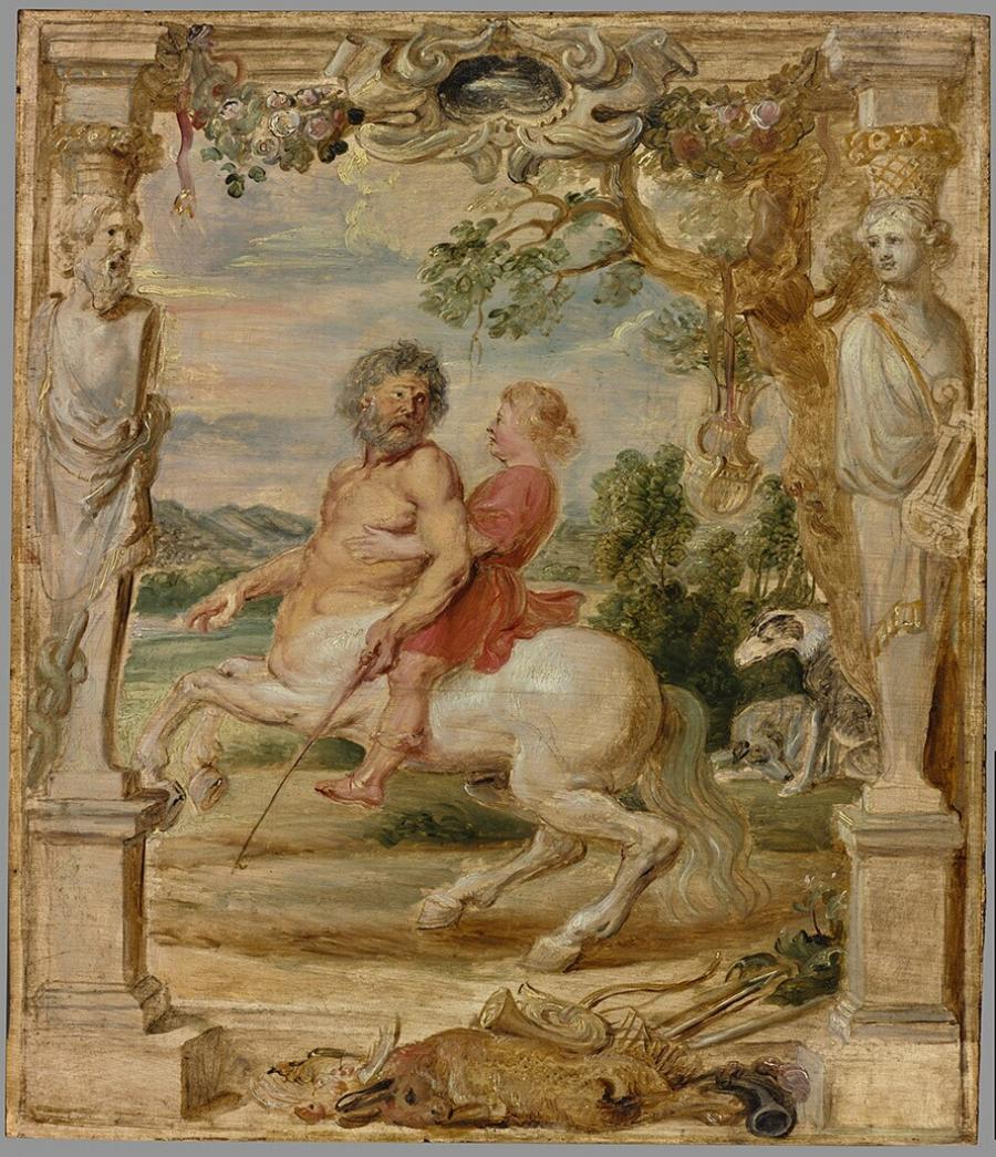 Achilles Educated by the Centaur Chiron