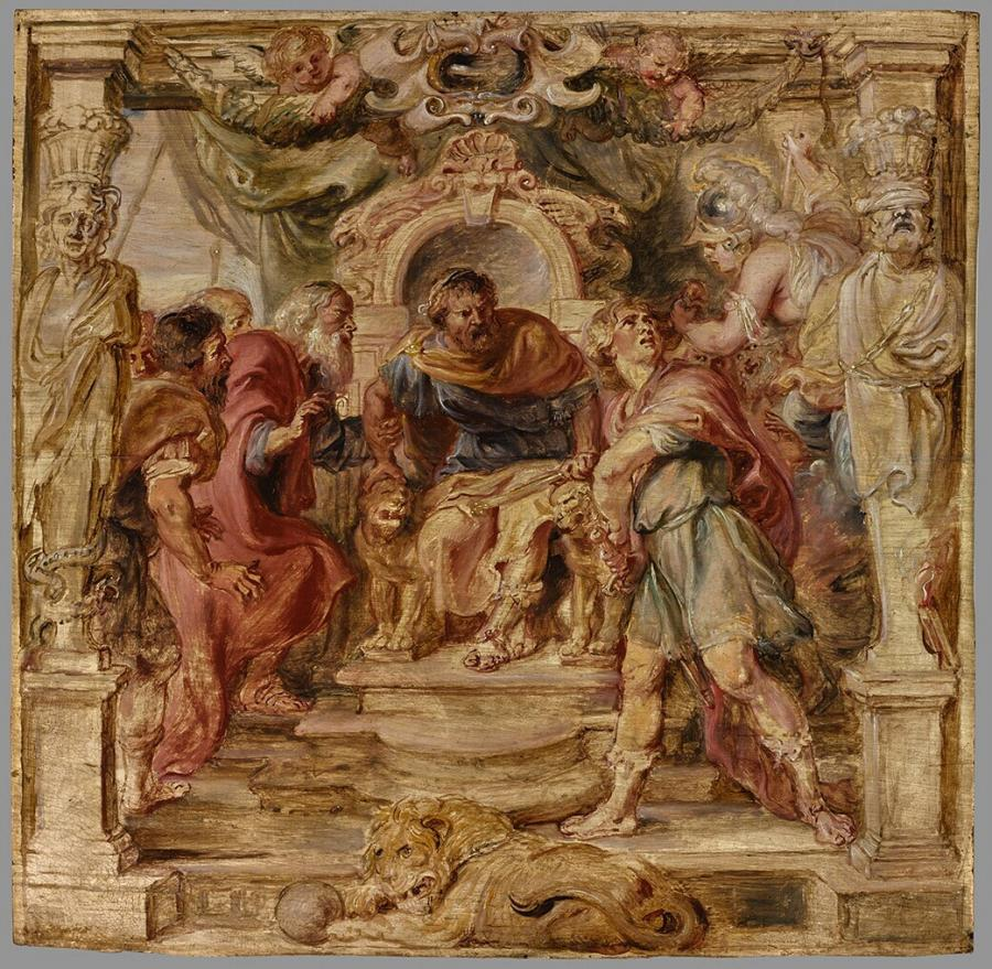 Achilles vertoornd op Agamemnon