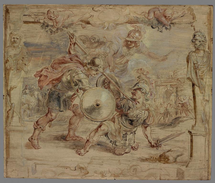 Achilles doodt Hector
