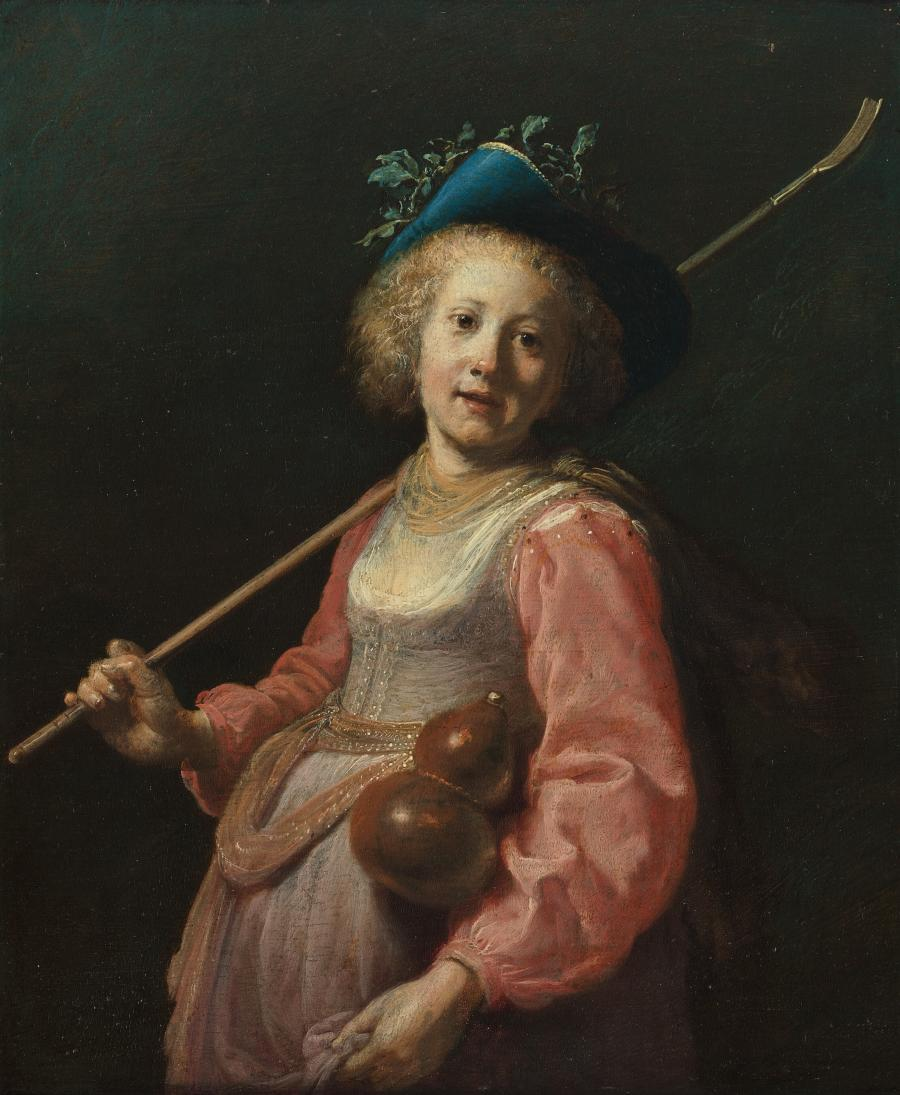 Girl as a shepherdess