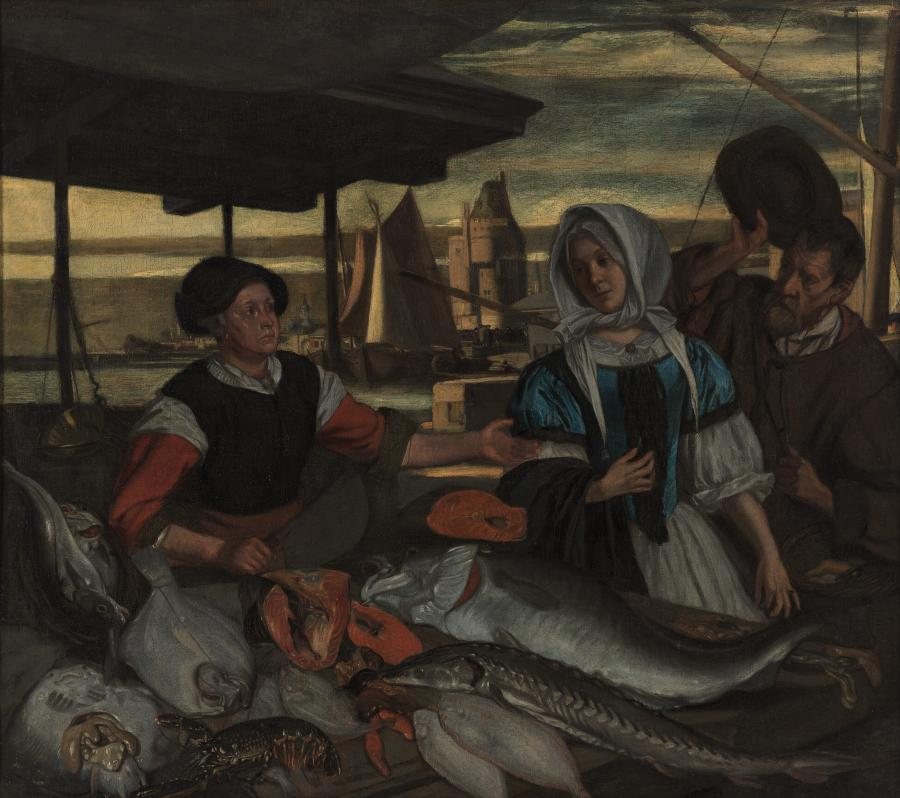 The Fish Market at Evening