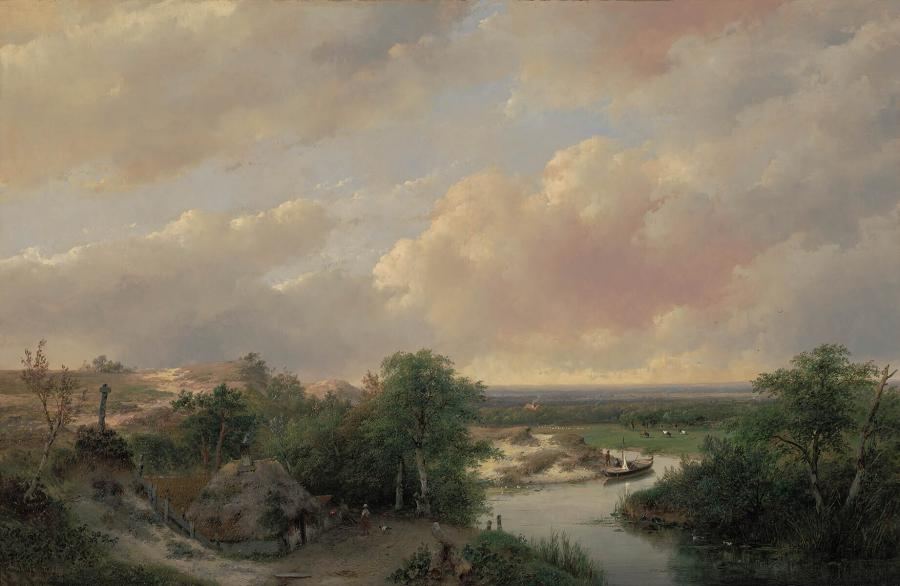 View of a hilly landscape