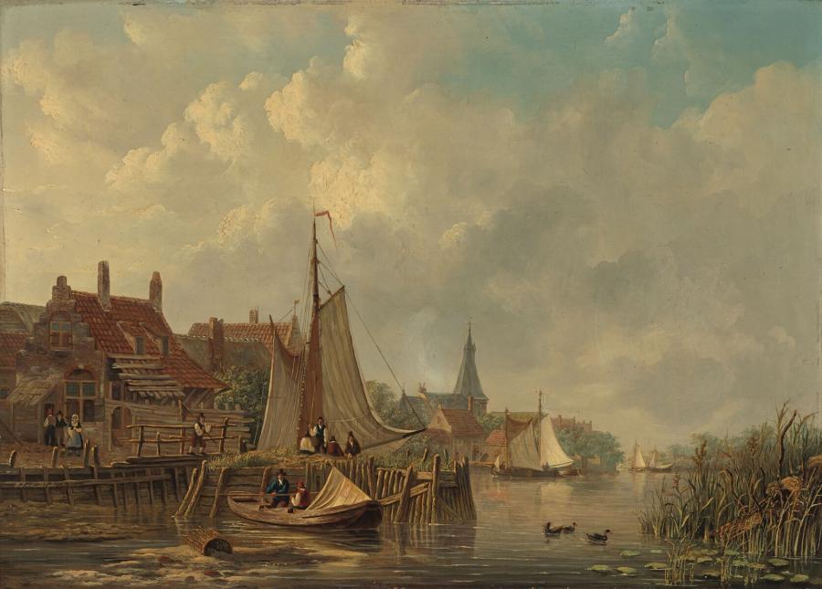 Riviergezicht te Giessen-Nieuwkerk