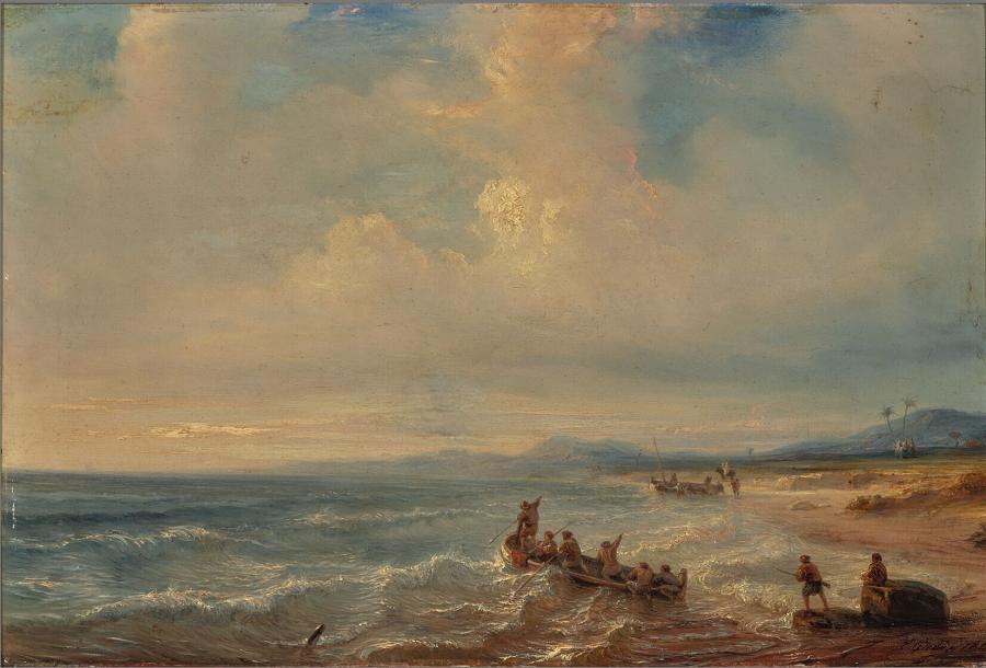 Een baai aan de Middellandse Zee