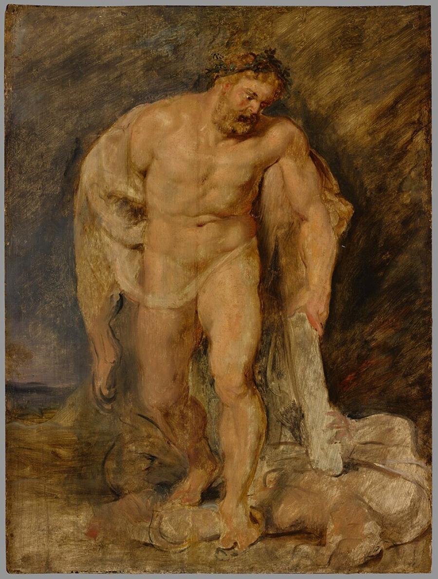 Hercules met de neergevelde Discordia (de Tweedracht)