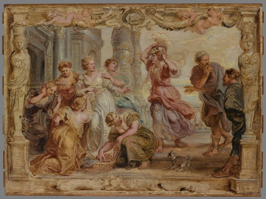 Achilles Recognised Among  the Daughters of Lycomedes