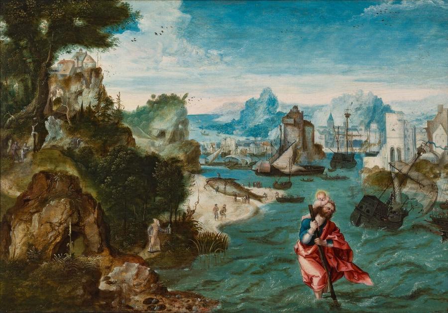 Landschap met de Heilige Christoffel
