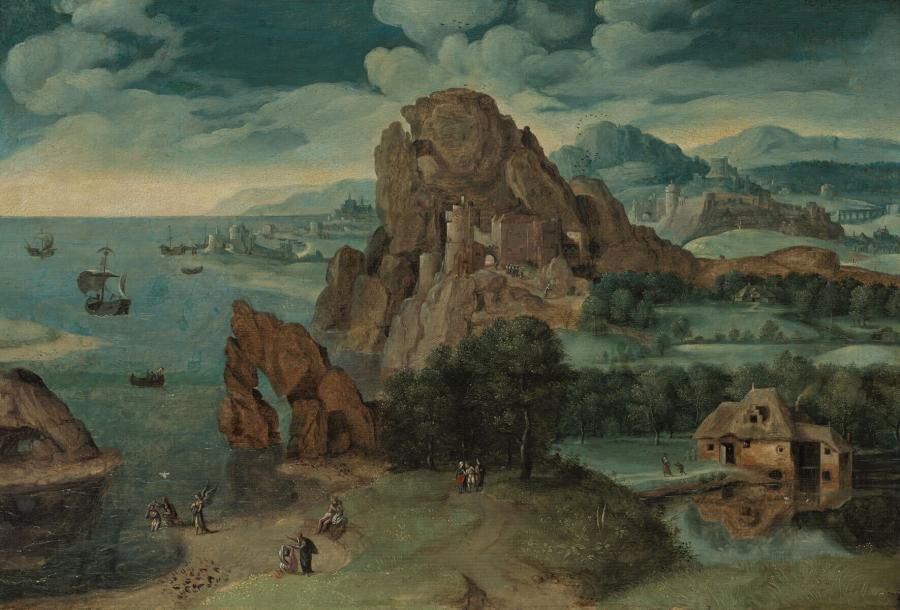 Landscape with the Baptism of Christ and the Two Disciples on the Road to Emmaus