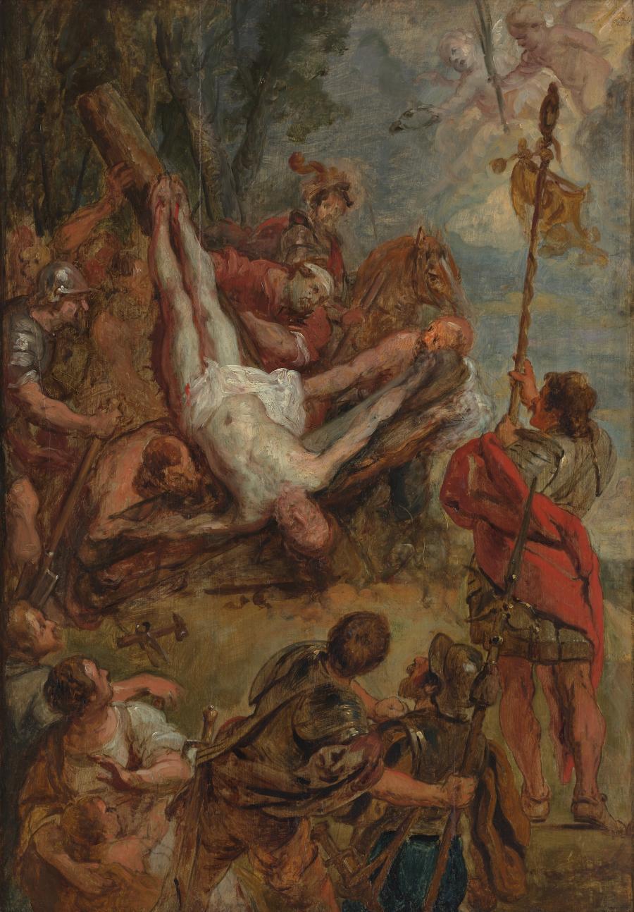 De marteldood van de Heilige Petrus
