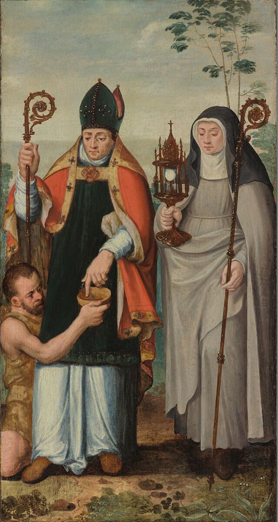 De H. Clara en de H. Martinus van Tours