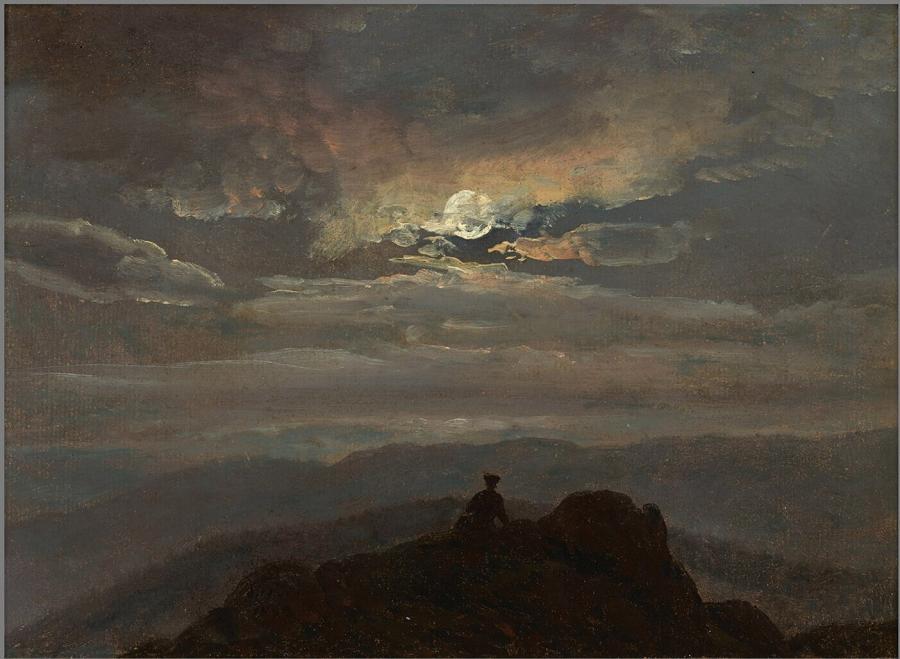 Landschap bij maanlicht