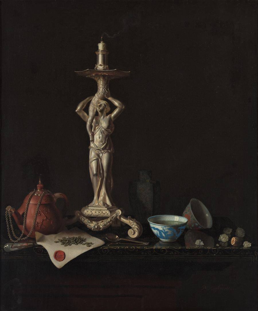 Still Life with a Silver Candlestick