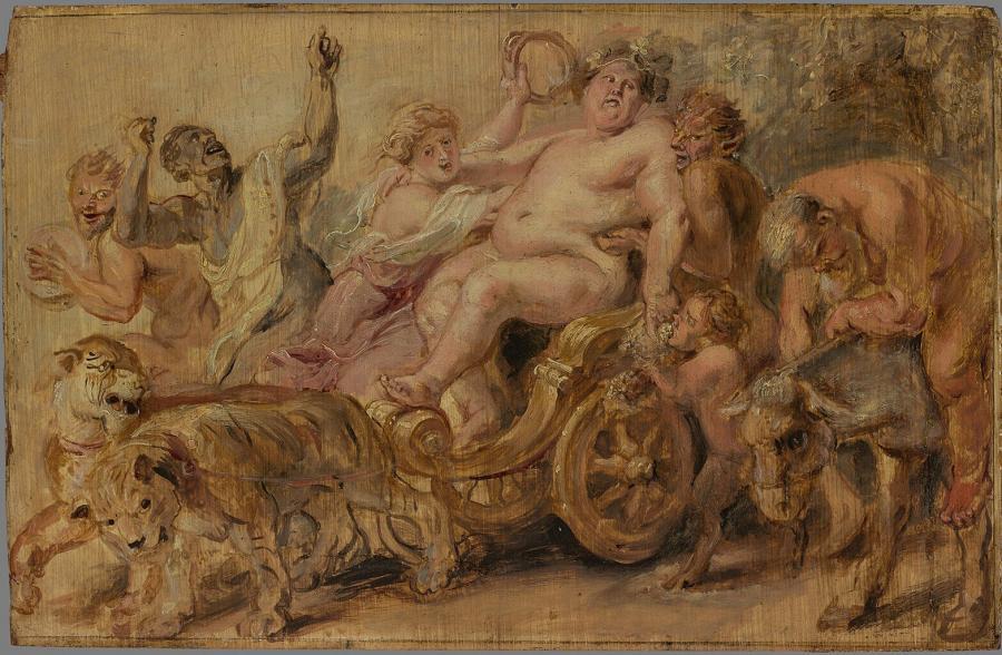 De triomftocht van Bacchus